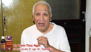 Ông Trịnh Thúc Nghi, bị tai biến và sử dụng An Cung Trúc Hoàn đã hoàn toàn bình phục.