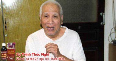 Cụ Trịnh Thúc Nghi 4 lần tai biến, đã hồi phục nhờ An Cung Trúc Hoàn