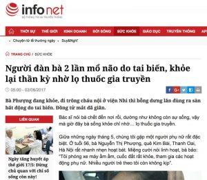 Bài viết về An Cung Trúc Hoàn Nguyễn Quý Thanh trên báo Infonet