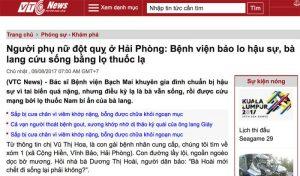 Bài viết về An Cung Trúc Hoàn Nguyễn Quý Thanh trên báo VTCnews