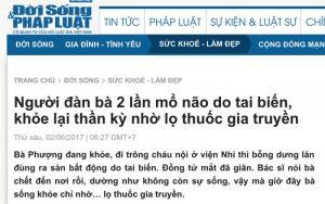 Bài viết về An Cung Trúc Hoàn Nguyễn Quý Thanh trên báo Đời Sống và Pháp Luật
