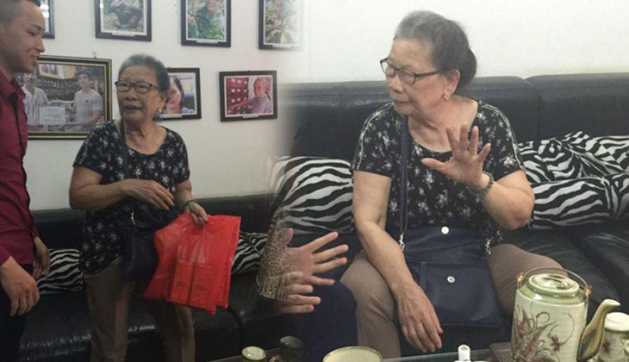 Ít ai tin trước đó bà Hương đã bị tai biến khiến bà bị liệt nửa thân trái, miệng méo.