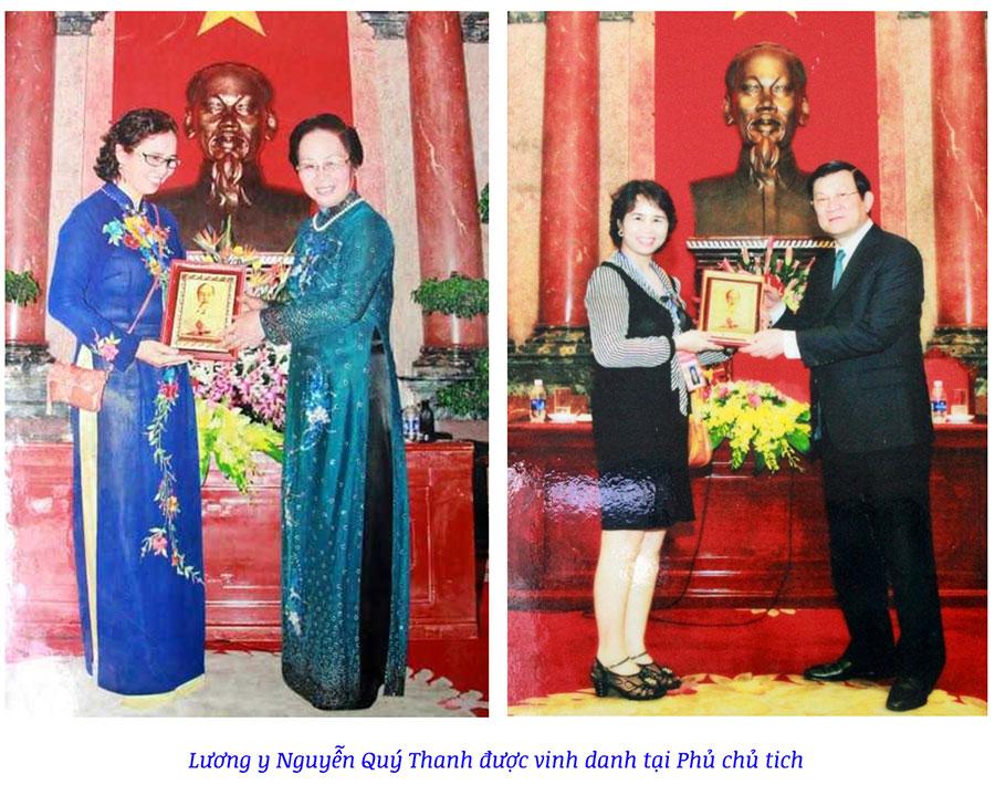 Hình ảnh Lương y Quý Thanh được nhận quà lưu niệm tại phủ Chủ tịch!